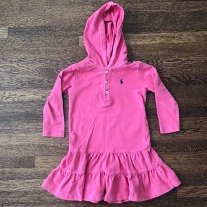Girls Ralph Lauren hooded dress